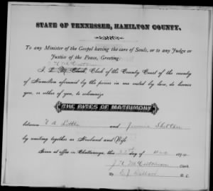 N A Little 1899 to Jennie Shelton Marr License.jpg