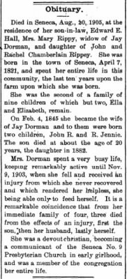 Mary Rippey Dorman 1905 Obit2.jpg