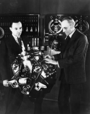 Edsel & Henry Ford with V8 Engine.jpg