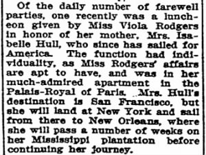 Isabella Rodgers Hull Paris Farewell Party SF Chron 11 Oct 1925.jpg