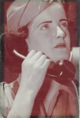 Margaret Clifford on phone during WWII.jpg