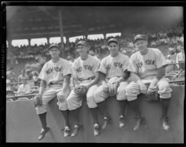 Johnny Sturm, Joe Gordon, Phil Rizzuto, and Red Rolfe.jpg