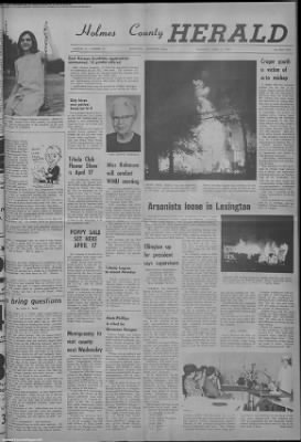 1968-Apr-11 Holmes County Herald, Page 1
