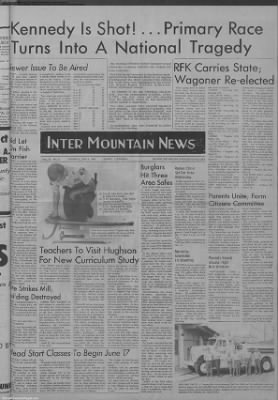1968-Jun-6 The Intermountain News, Page 1