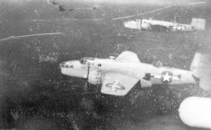 North American B-25 Mitchell bombers of the 321st BG on a mission.jpg
