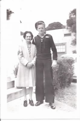 Bill Cashen and mother, Bertha Hollywood, CA May 1943 001.jpg