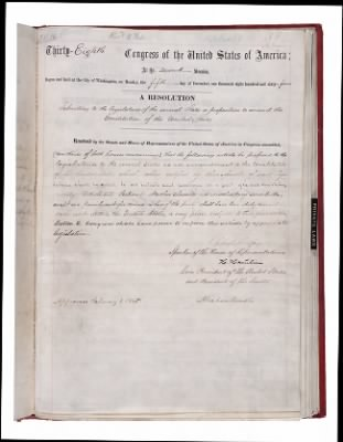 1865 - Amendment 13: Abolition of Slavery › Page 1 - Fold3.com
