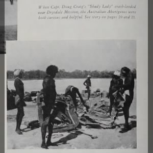 Fold3 Image - Curious Australian Aborigines at the site of Capt. Doug Craig's crash landing