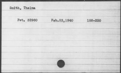Naturalization Index for Thelma Smith