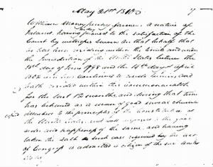 DOC8- William Moneypenny's Naturalization 5-21-1810 (Harrison Co., W VA, Court Order Book).jpg